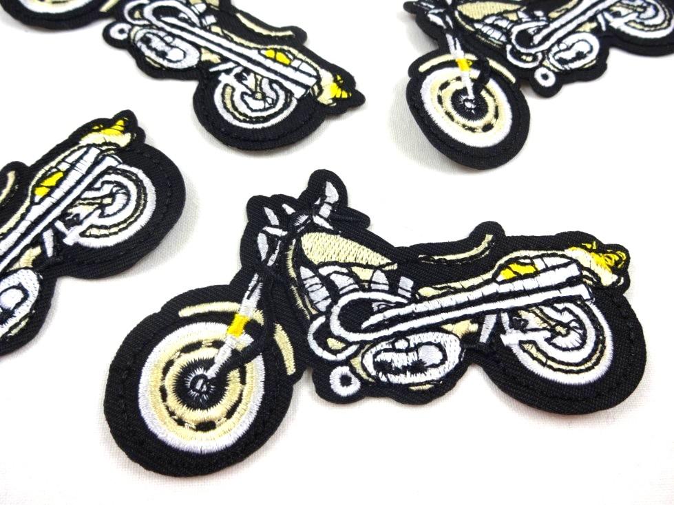 M356 Tygmärke Motorcykel guld
