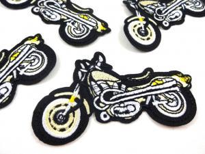 M356 Tygmärke Motorcykel guld/svart