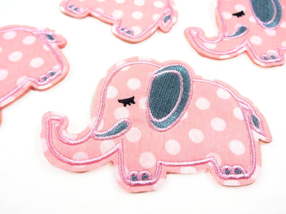M357 Tygmärke Elefant rosa