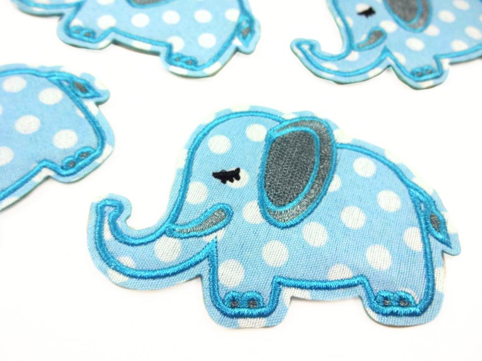 M357 Tygmärke Elefant blå