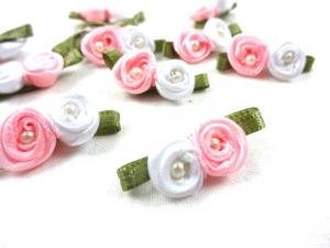 M364 Satin Roses with Pearls pink