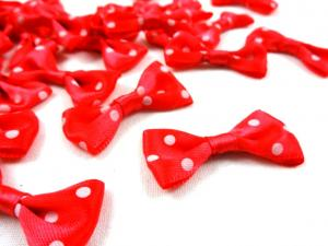 M365 Satin Bow with Dots red