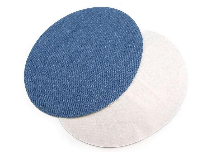 M385 Laglappar jeans oval mellanblå (2 st)