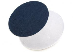 M385 Laglappar jeans oval mörkblå (2 st)