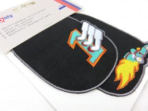 M903 Iron-On Knee Patch with Car black