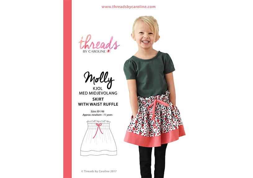 Molly kjol med midjevolang - Threads By Caroline