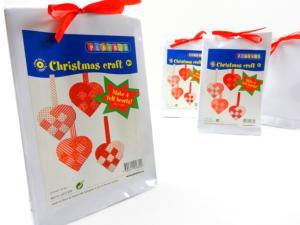 N1018 Christmas Craft Kit - Felt Hearts