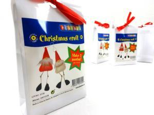 N1019 Christmas Craft Kit - Santas with Long Legs