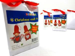N1019 Christmas Craft Kit - Round Santas