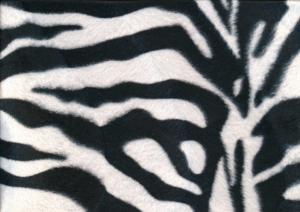 Velboa Fabric zebra