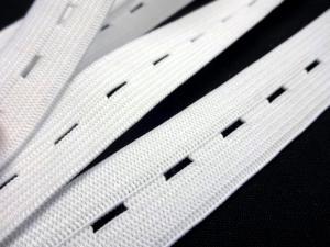 R129 Buttonhole Elastic 20 mm white
