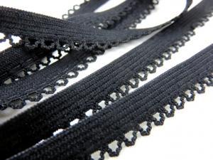 R131 Elastic Lace Trim 10 mm black