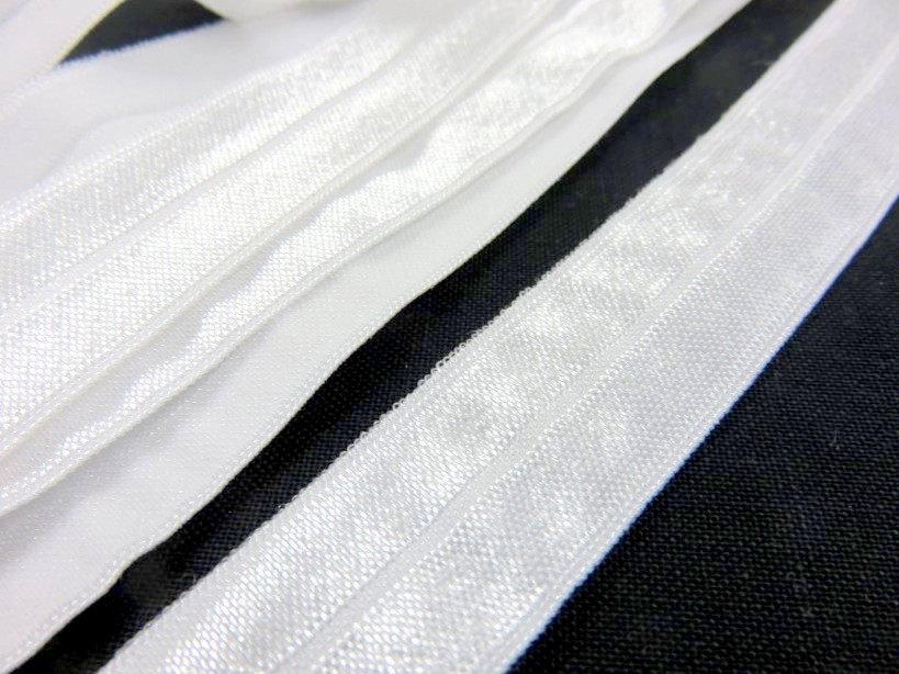 R133 Fold Over Elastic 20 mm offwhite