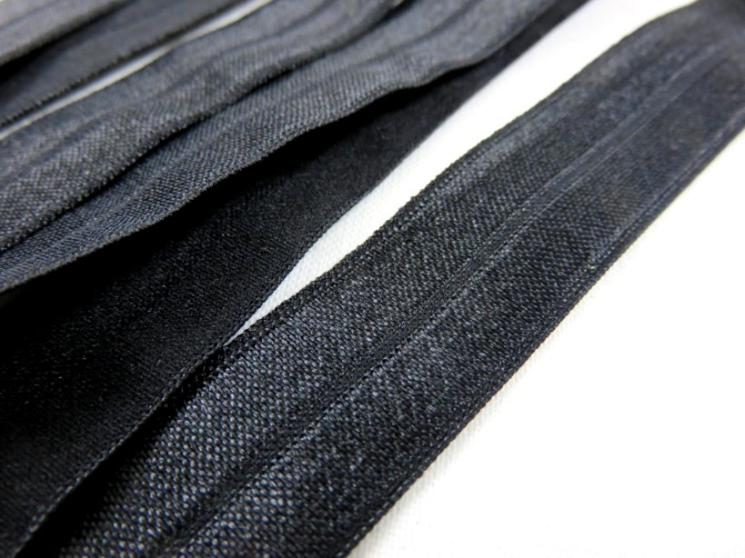 R133 Fold Over Elastic 20 mm black