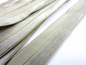 R134 Fold Over Elastic 16 mm beige/silver
