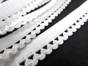 R137 Elastic Lace Trim 10 mm white