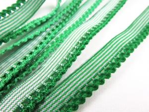 R137 Elastic Lace Trim 10 mm green