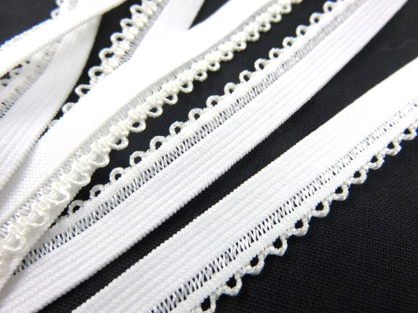 R141 Elastic Lace Trim 10 mm offwhite