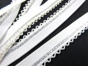 R141 Elastic Lace Trim 10 mm offwhite