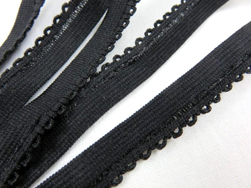 R141 Elastic Lace Trim 10 mm black