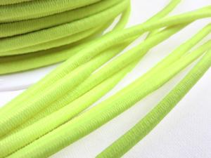 Elastic cord 3 mm neon yellow
