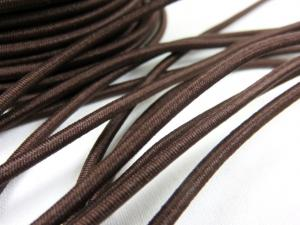 Elastic cord 3 mm dark brown