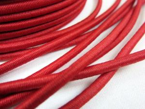 Elastic cord 3 mm red