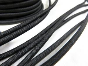 Elastic cord 4 mm black