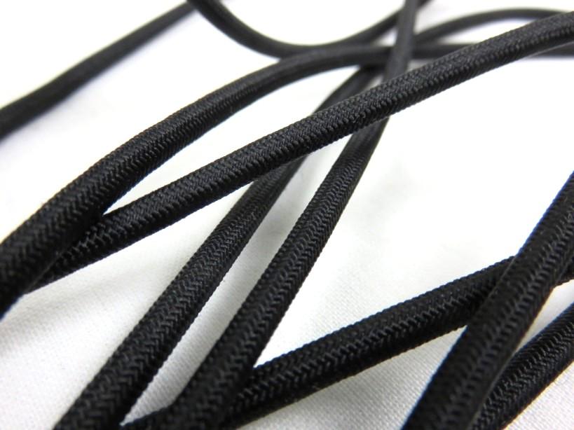 Rundresår 4 mm svart
