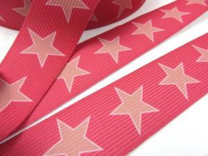 R248 Elastic Tape 35 mm Star pink
