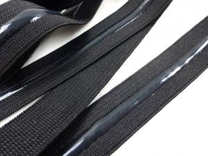 R296 Resår med silikon 20 mm svart