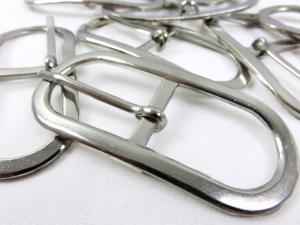 S016 Bar Buckle Oval 20 mm silver