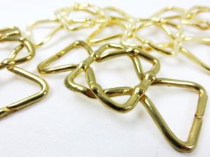 Metal clasp fastener 25 mm gold
