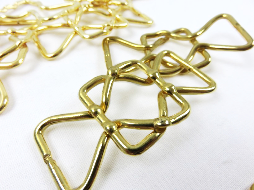 Tvådelat spänne 25 mm guld