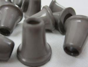 S019 Plastic Cord End brown grey