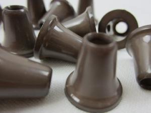 S019 Plastic Cord End brown