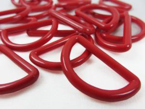 S048 Plastic D-ring 25 mm red