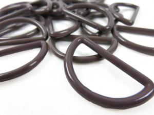 S050 Plastic D-ring 30 mm brown