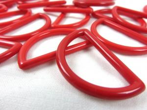 S050 Plastic D-ring 30 mm red