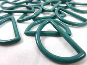 S050 Plastic D-ring 30 mm green