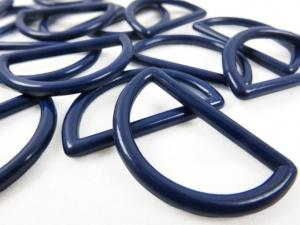 S050 Plastic D-ring 30 mm dark blue