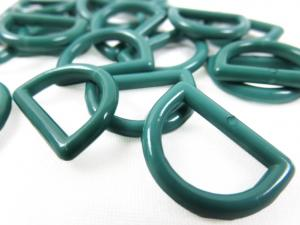S051 Plastic D-ring 15 mm green