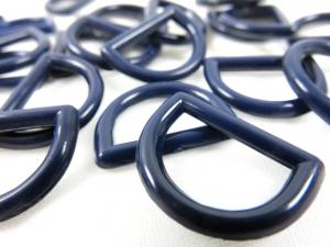 S051 Plastic D-ring 15 mm blue