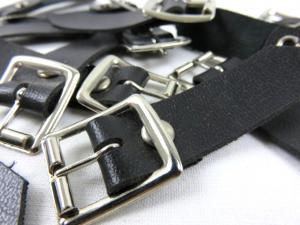 S079 Single Leather Buckle black