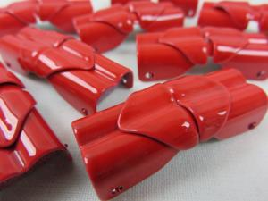 S110 Spänne 2-del metall röd