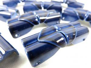 S110 Spänne 2-del metall blå