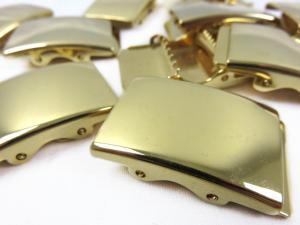 S135 Militärspänne 25 mm guld (2:a sort)