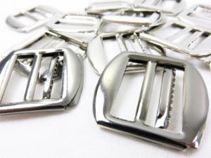Waistcoat buckle slider 20 mm silver (2nd choice)