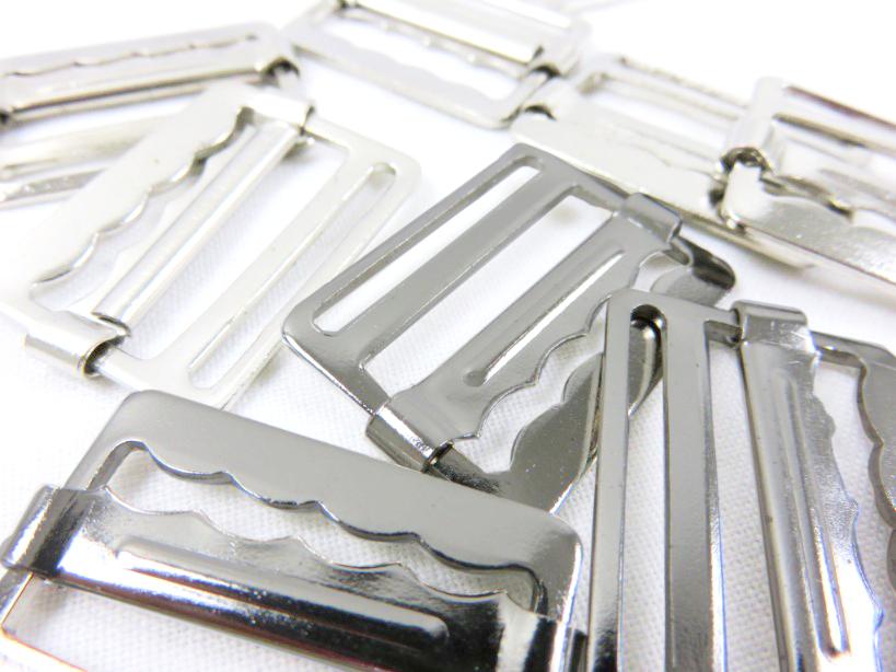 Spänne 27 mm silver