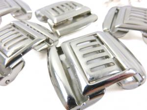 S193 Metal Clasp Fastener 28 mm silver